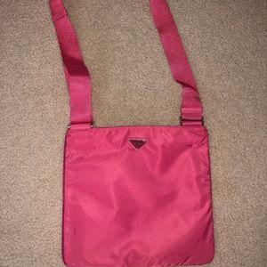 PRADA Crossbody Nylon Bag in Pink